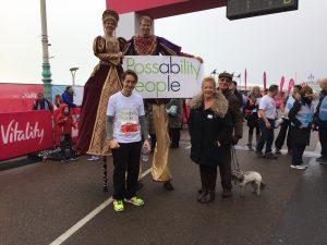 At the start of the Brighton Half Marathon