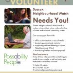 Sussex Neighbourhood Watch poster