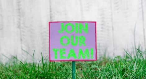 Image of sign saying Join Our Team