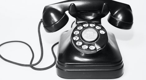 Photo of a vintage telephone